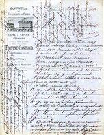 82.SEPTFONDS.MANUFACTURE DE CHAPEAUX DE DE PAILLE.FORTUNE CANTECOR USINE A VAPEUR.SUCCURSALES A MONTEILS & CAUSSADE. - Textile & Vestimentaire