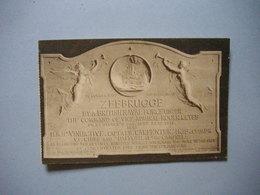 ZEEBRUGGE  -  Plaque Commémorative  -  BELGIQUE - Zeebrugge