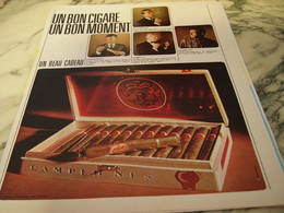 ANCIENNE PUBLICITE UN BON CIGARE UN BON MOMENT  1966 - Tabac (objets Liés)
