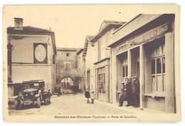 Cpa  Caumont Su Durance - Porte De Cavaillon ( Bar Du Casino, Automobile ) - Caumont Sur Durance
