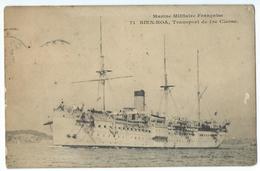 """CPA Bateau Navire De Guerre Cuirassé """"Bien-Hoa"""" Transport - Guerre"""