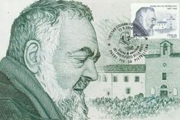 Cartolina  Maximum Padre Pio Da Pietrelcina - Santi