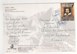 """Timbre , Stamp """" Pedro Antonio Fernandez De Castro """" Sur Cp , Carte , Postcard Du 21/07/2013 ? - Pérou"""