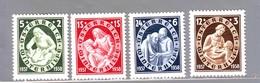 AUSTRIA AUTRICHE AUSTRIAN 1937  SOCCORSO INVERNALE Compl. 4val  MNH** - Ungebraucht