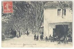 Cpa Noves - Avenue De La Gare ( Postée Vers Saint Maurice De Cazevieille , Gard - Cachet Perlé ) - Autres Communes