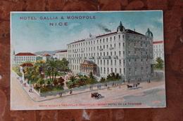 NICE (06) - HOTEL GALLIA & MONOPOLE - Bar, Alberghi, Ristoranti