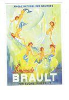 Cpm - Illustration Noyer Publicité Joel Bellon - Limonade BRAULT Gaz Naturel - Sirènes Sirène Seins Nus - Werbepostkarten