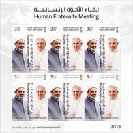 United Arab Emirates/ UAE 2019 - Human Fraternity Meeting - Pope Francis Visit To UAE / Vatican Sheetlet - United Arab Emirates