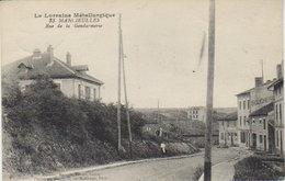 """1924    Mancieulles - Environs De  Piennes   - Rue De La Gendarmerie  -  """" Boucherie  """" - Briey"""