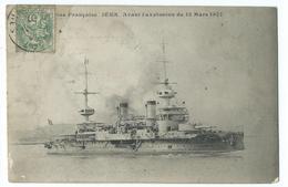 CPA Bateau Navire De Guerre Cuirassé Iéna Avant L'explosion - Guerre