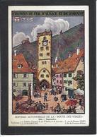 CPA Hansi JJ WALTZ Illustrateur Alsacien Alsace Non Circulé Voir Scan Du Dos Chemin De Fer - Hansi
