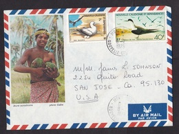 New Caledonia: Illustrated Airmail Cover To USA, 1979, 2 Stamps, Sea Bird, Egg, Coconut (traces Of Use) - Nieuw-Caledonië