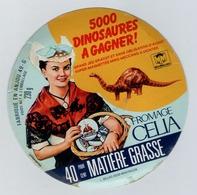 étiquette De Fromage - Celia Fabriqué En Anjou  - 5000 Dinosaures à Gagner - Cheese