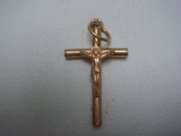 Pendentif Ancien Croix En Or 18 Carats 2,5 Cm X 1,5 Cm  7gr - Pendants