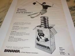 ANCIENNE PUBLICITE BANANIA DU RESSORT POUR LA JOURNEE 1966 - Autres Collections