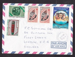New Caledonia: Airmail Cover To UK, 1977, 5 Stamps, Beach, Sea, Shell, Heritage, Museum, History (traces Of Use) - Nieuw-Caledonië