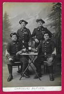 Carte Photo Militaria - Cliché Studio De Chasseurs Alpins Du 13ème Bataillon - Regimente