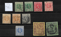 Sierra Leone, 1912 KGV Selection To 1/- Used, With Shade Variations (7382) - Sierra Leone (...-1960)
