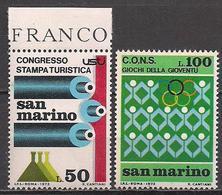 San Marino  (1973)  Mi.Nr.  1027 + 1028  ** / Mnh  (2af04) - San Marino
