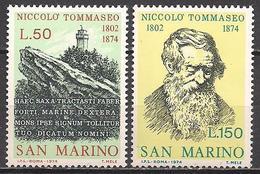 San Marino  (1974)  Mi.Nr.  1080 + 1081  ** / Mnh  (2af06) - San Marino