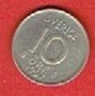 SWEDEN #  10 ØRE FROM 1957 - Suède