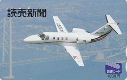 Carte Prépayée Japon - AVIATION - AVION MILITAIRE - MILITARY AIRPLANE - Japan Prepaid Tosho Card - 2231 - Avions