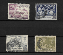 Sierra Leone, KGVI 1949 UPU Anniversary, Complete Set Used (7387) - Sierra Leone (...-1960)
