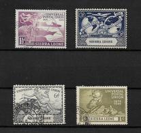 Sierra Leone, KGVI 1949 UPU Anniversary, Complete Set Used (7388) - Sierra Leone (...-1960)