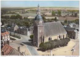 41 - EN AVION AU DESSUS DE LA VILLE AUX CLERCS / L'EGLISE - France