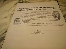 ANCIENNE PUBLICITE  MONTRE ROLEX OYSTER  1966 - Bijoux & Horlogerie