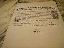 ANCIENNE PUBLICITE  MONTRE ROLEX OYSTER  1966 - Jewels & Clocks