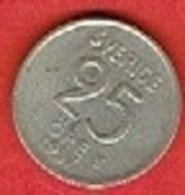 SWEDEN #  25 ØRE FROM 1957 - Suède