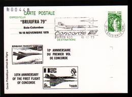 Entier Postal ,stationery Card, BRIJUFRA 79, 10 E Anniversaire Du 1er Vol Du Concorde, Flamme - Enteros Postales