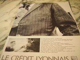 ANCIENNE AFFICHE PUBLICITE BANQUE CREDIT LYONNAIS  1966 - Publicité