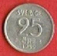 SWEDEN #  25 ØRE FROM 1959 - Suède