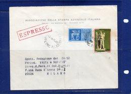 ##(DAN192)- 1975 -  Busta Espresso Da Torino Per Milano - 1971-80: Storia Postale
