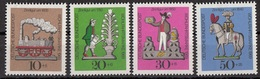 Germania 1969 Sc. B450/B453 Giocattoli Di Latta - Tin Toys Full Set MNH Germany - Infanzia & Giovinezza