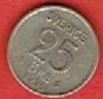 SWEDEN #  25 ØRE FROM 1954 - Suède