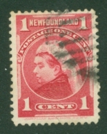 Newfoundland: 1897/1918   QV   SG84   1c   Carmine   Used - Newfoundland