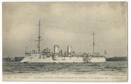 CPA Bateau Navire De Guerre Cuirassé  Croiseur Galilée - Guerre