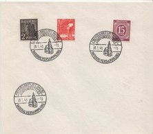 Germany 4 Allied Occupation Covers With Frankfurt National Assembly Cancel: National Versammlung 1946 - American,British And Russian Zone
