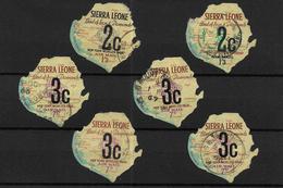 Sierra Leone, 1964 Decimal Currency Optd 4th Issue, Duplicated Selection (7408) - Sierra Leone (1961-...)