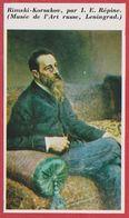 Rimski-Korsakov Par I E Répine. Compositeur. Russie. Encyclopédie De 1970. - Alte Papiere