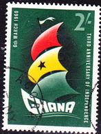 Ghana - 3 Jahre Unabhängigkeit (Mi.Nr.: 76) 1960 - Gest Used Obl. - Ghana (1957-...)