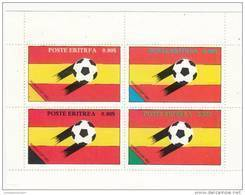 Eritrea Bloque Sellos Futbol 82 - Viñetas De Fantasía