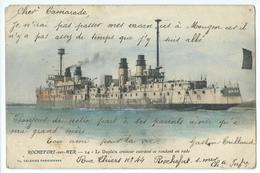 CPA Bateau Navire De Guerre Cuirassé Croiseur Dupleix Rochefort Sur Mer - Guerre