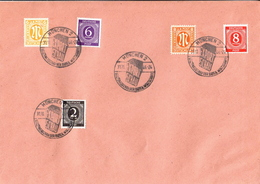 Germany Allied Occupation Cover With München 2 Export Schau Cancel 1946 - American,British And Russian Zone