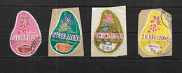 Sierra Leone, 1969 Cola Plant Colour Change Set Complete Used (7416) - Sierra Leone (1961-...)