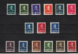 1940 - Roi Mihai Mi No 650/665  MNH - Ungebraucht