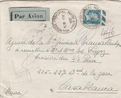 France Alsace Lettre De Mulhouse Pour Le Maroc 1932 - Marcophilie (Lettres)